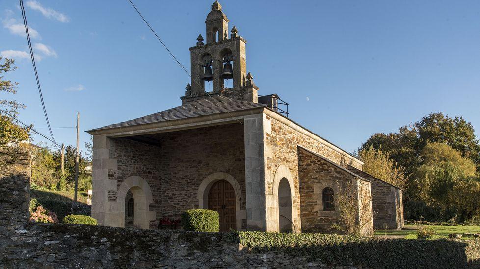La nueva iglesia parroquial de Vilasouto sustituyó a la antigua tras las construcción del embalse