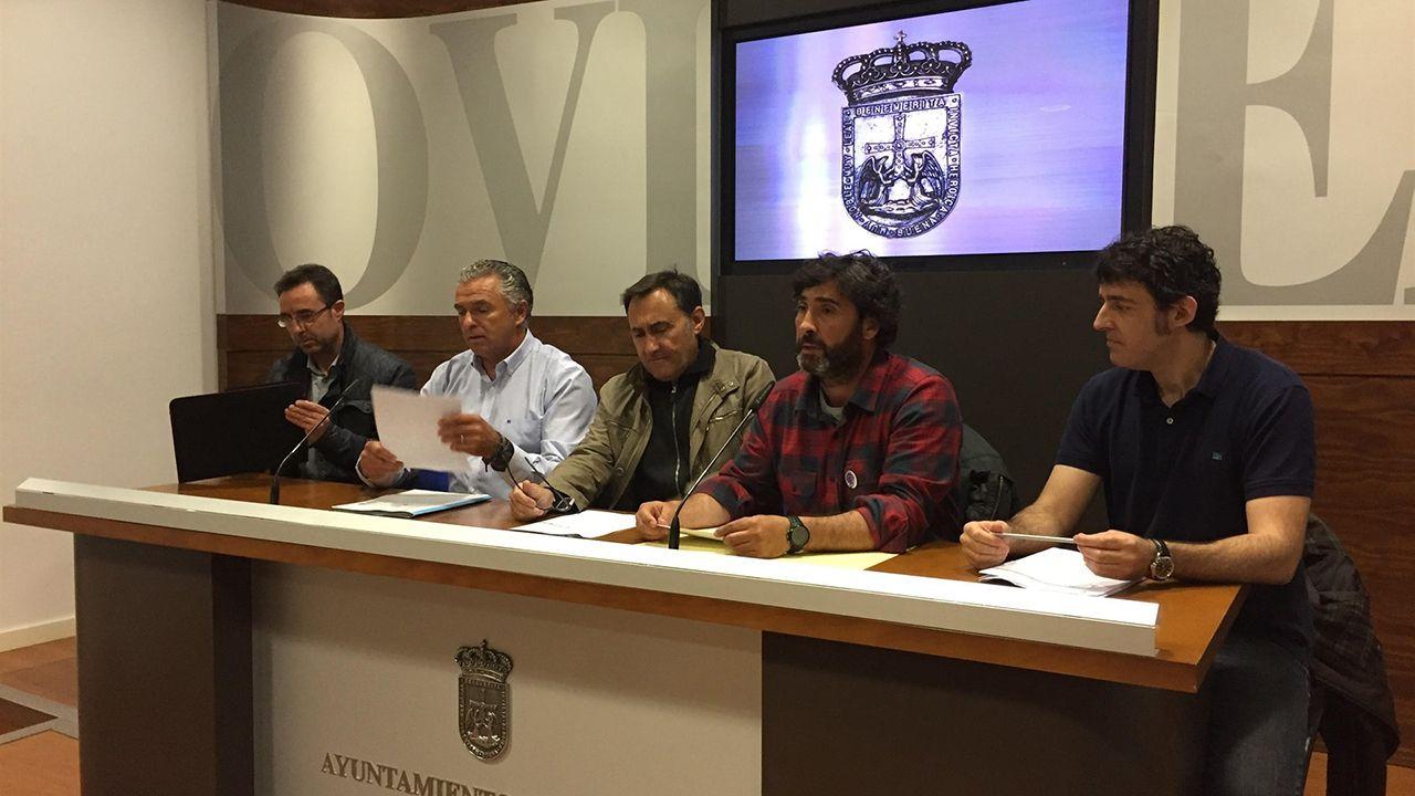 Representantes sindicales de la Policía Local de Oviedo