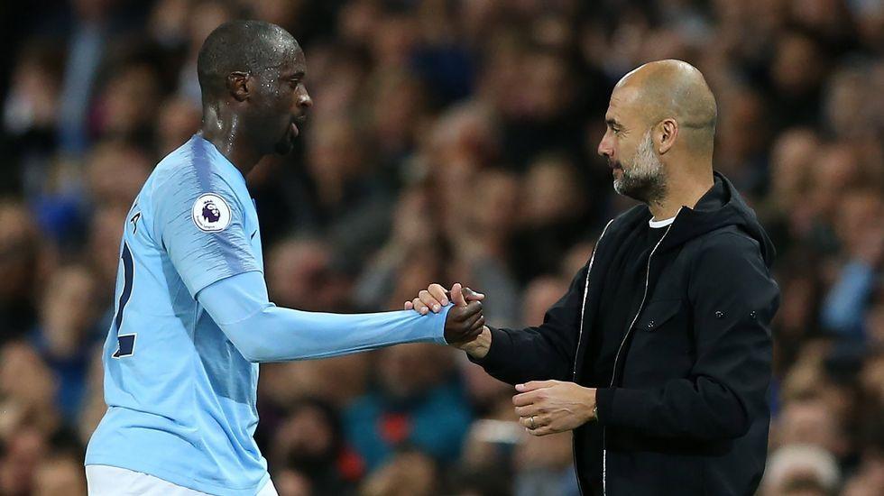Guardiola y Touré.
