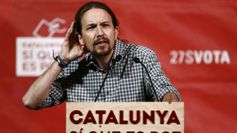 .Pablo Iglesias se ha volcado en la campaña de Sí que es Pot.