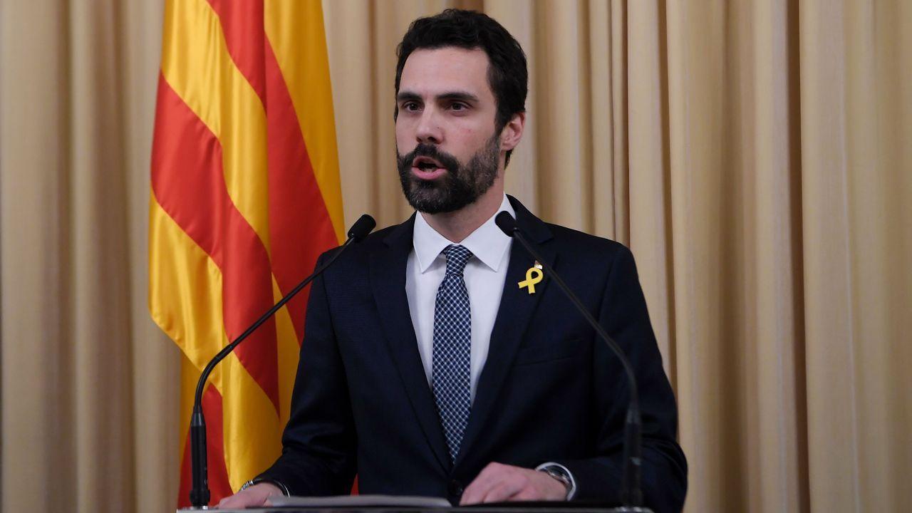 Roger Torrent: «Propongo al diputado Carles Puigdemont como candidato a la presidencia de la Generalitat».