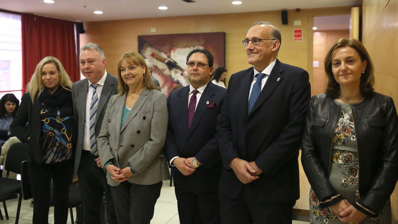 Feijoo y Franqueira durante la presentación del plan estratégico