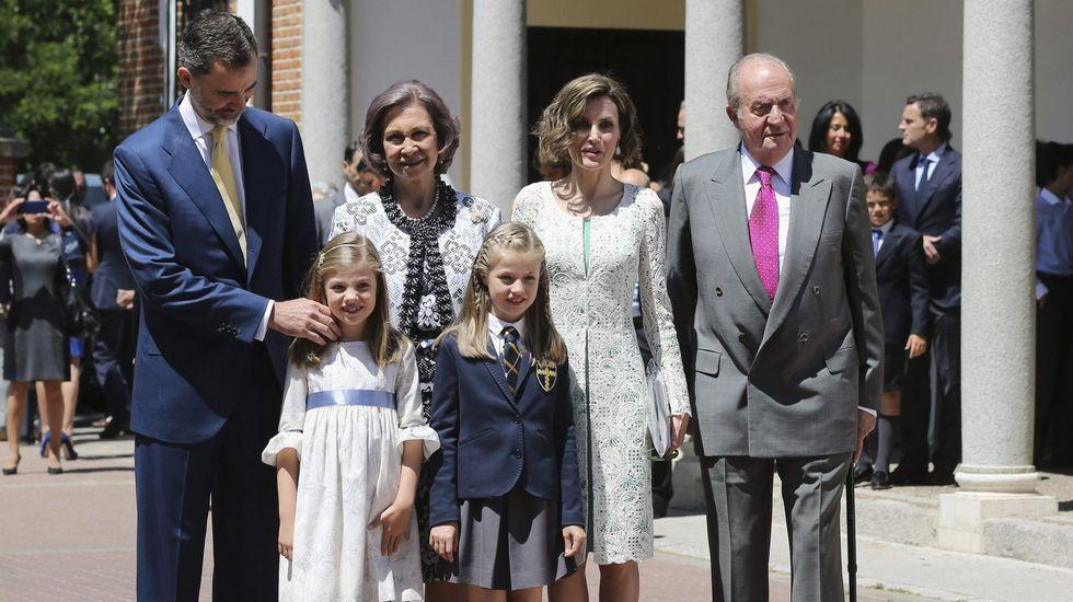 El día de la comunión de la princesa Leonor.