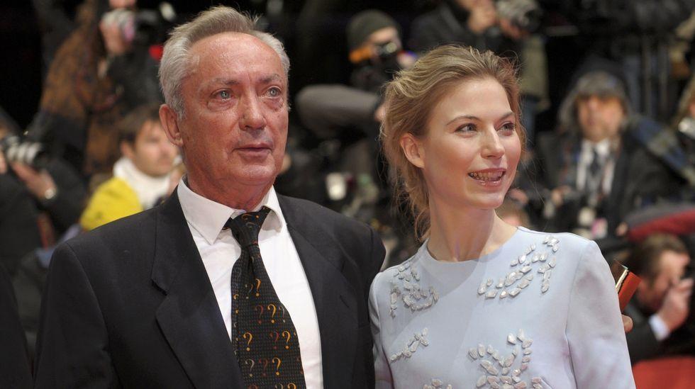 Los actores Udo Kier y Nora von Waldstaetten.