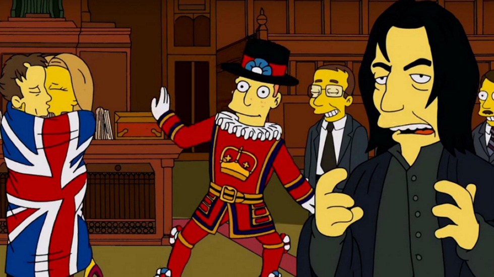 The Simpsons | Alan Rickman Tribute.La oficina de García Figueroa está en la Casa do Deán.