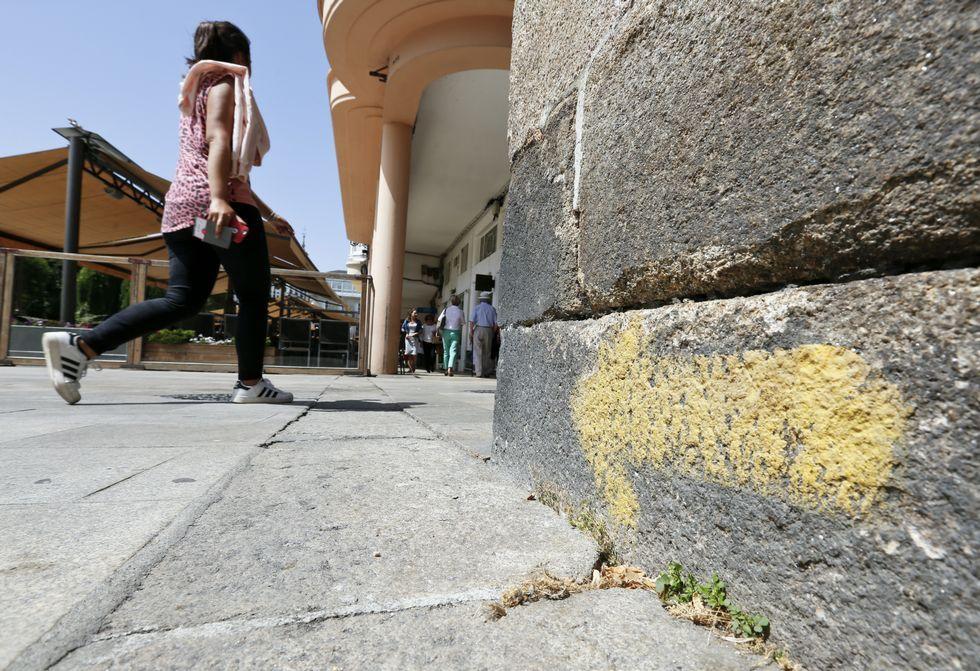 El Camino Primitivo a su paso por Lugo.Centro histórico de Melide