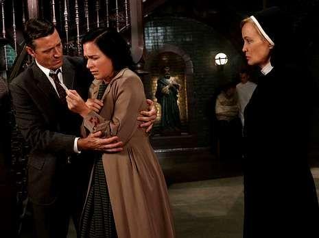 Jessica Lange hace el papel de monja en «American Horror Story».