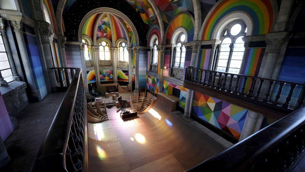 Una iglesia desacralizada en Asturias es ahora un templo del skate.