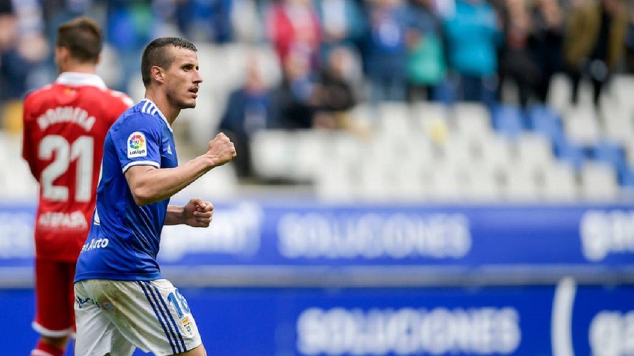 Christian celebra el gol ante el Nàstic