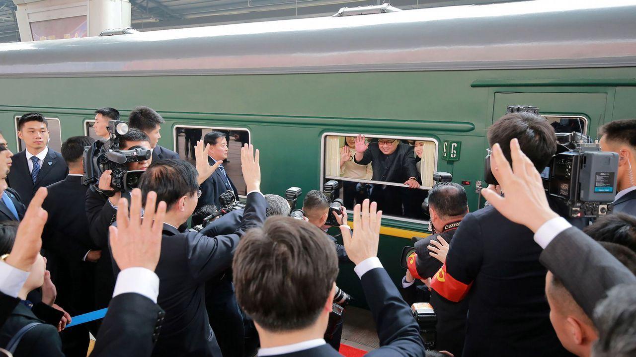 Kim Jong-Un realiza una histórica visita no oficial a China.