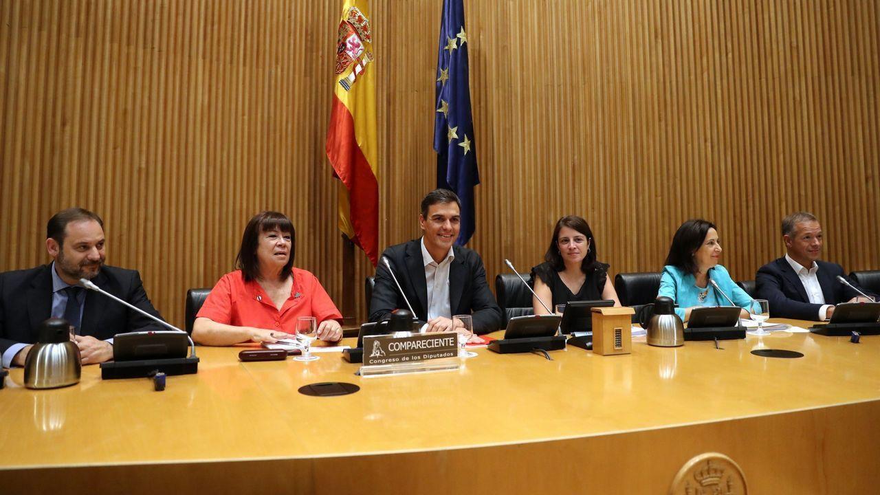 El equipo de Pedro Sánchez