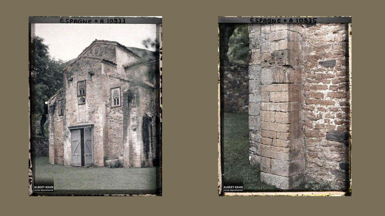 San Miguel de Lillo. Contrafuertes en San Miguel de Lillo
