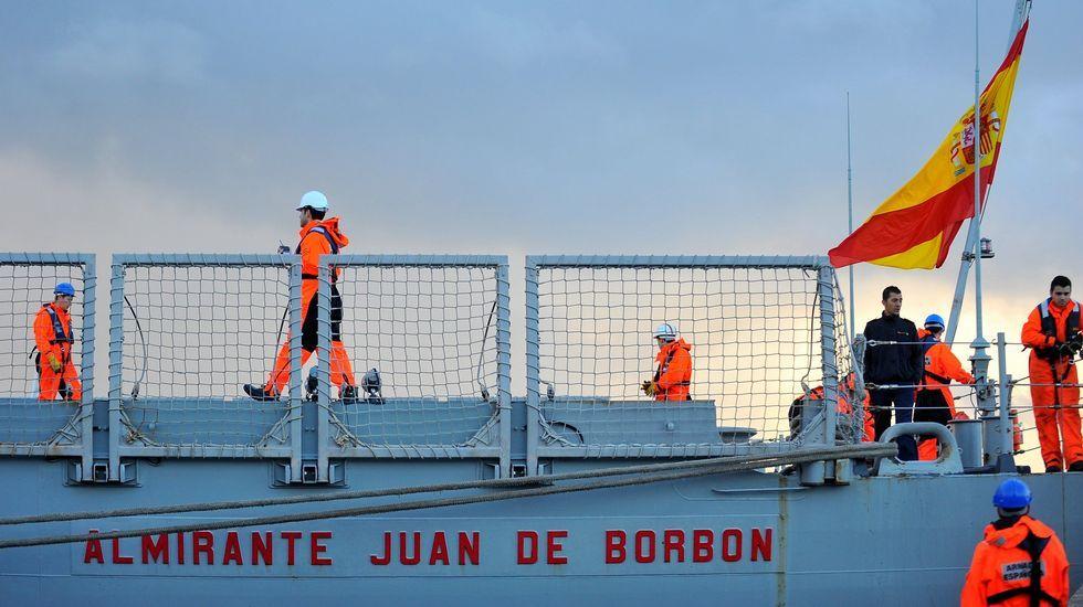 Vista de la fragata «Almirante Juan de Borbón»