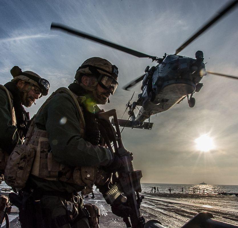 Imagen publicada por la OTAN sobre los ejercicios Joint Warrior.