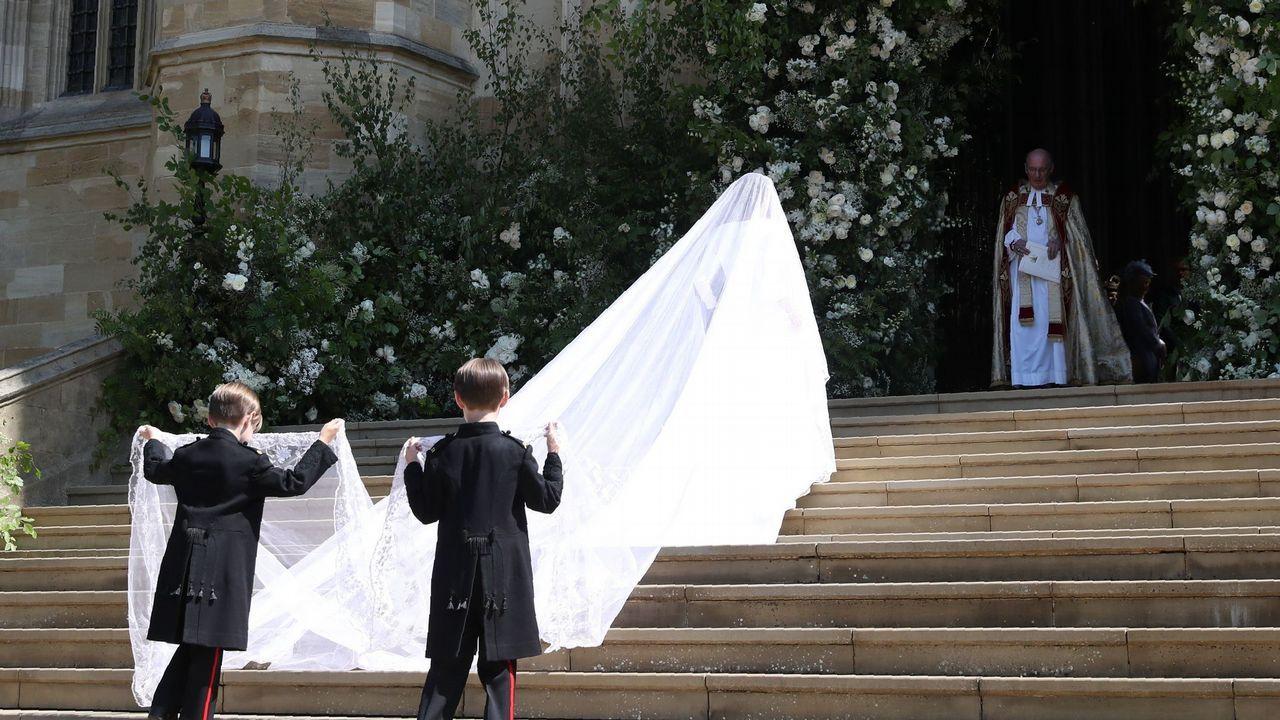 Así es el elegante vestido de Givenchy que Meghan Markle eligió para su boda con Harry.