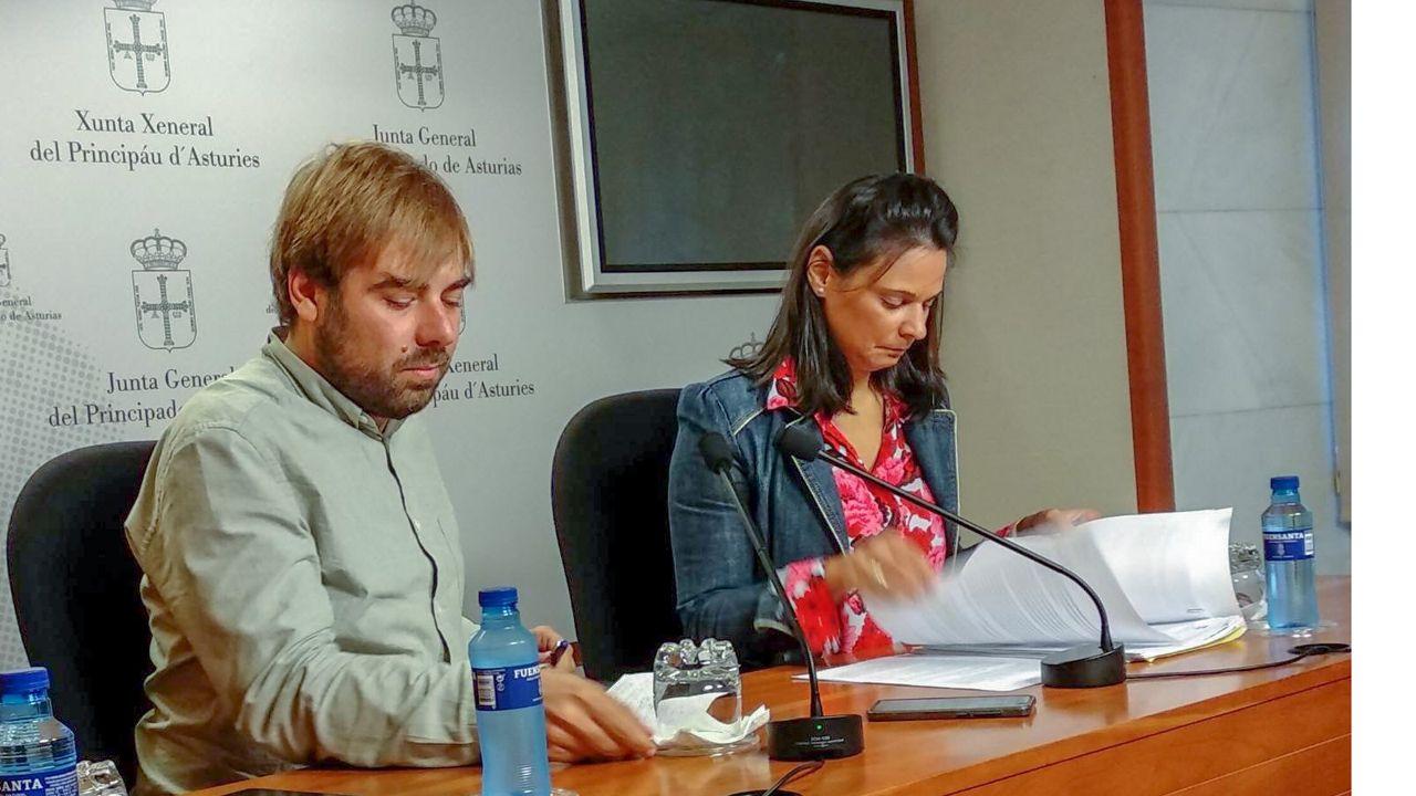 Diana Sánchez (Ciudadanos) y Daniel Ripa (Podemos)