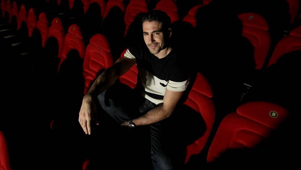 El gran casino de los Goya.Miguel Ángel Silvestre, en la presentación de la película «Todo es silencio» en A Coruña.