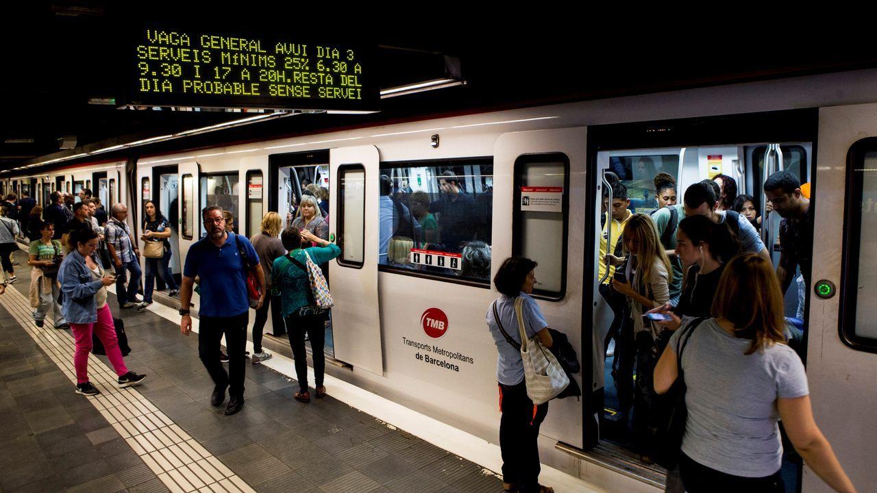 Huelga en Cataluña. Metro de Barcelona