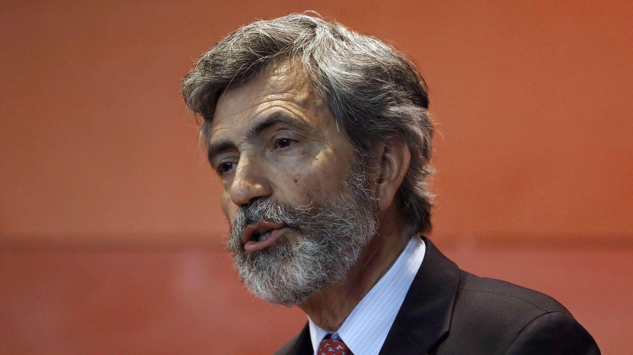 El presidente del Supremo niega haber recibido presiones de la banca.El Colegio Nazaret, de Oviedo