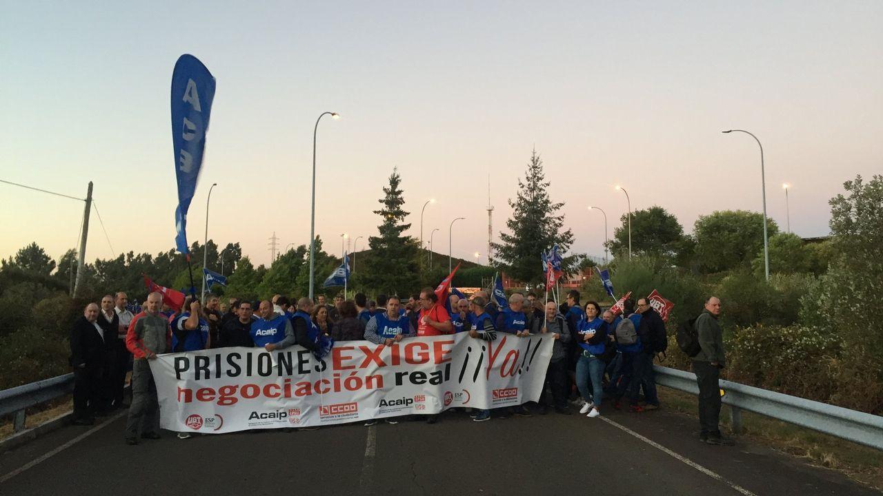 Manifestación de funcionarios de prisiones.Imagen de archivo del comisario Villarejo, que está en prisión preventiva