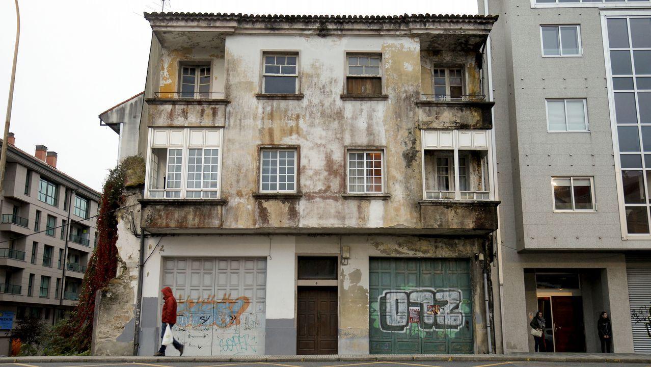 Casa en la que vivían las diez víctimas liberadas en Santiago