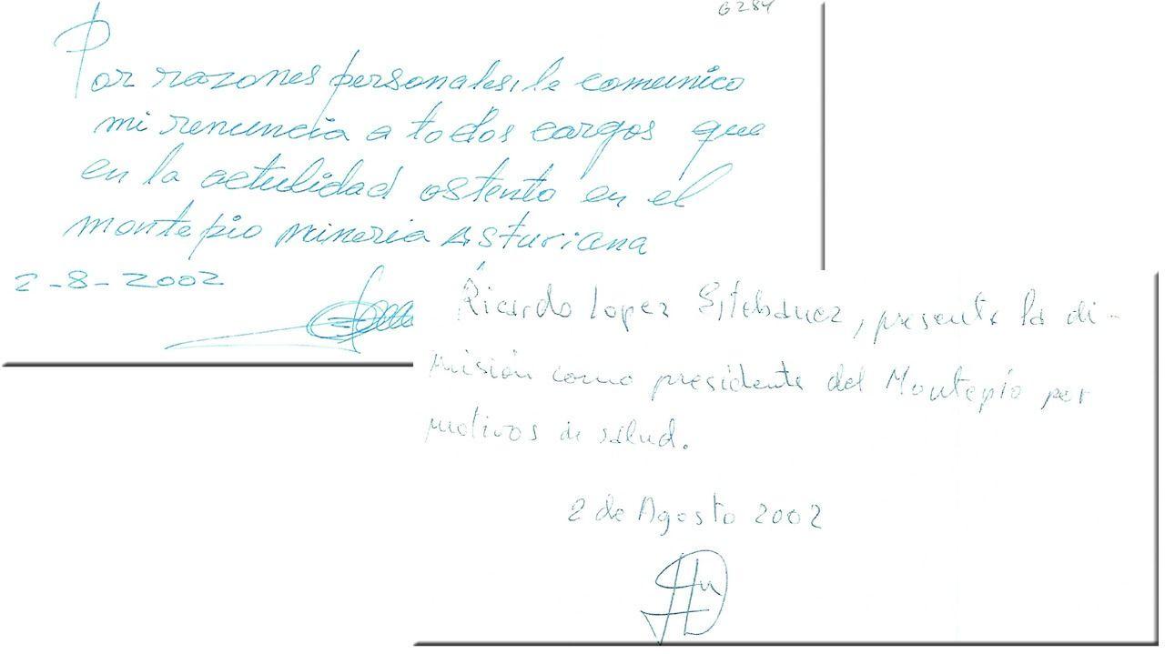 Las dimisiones de Ricardo López Estébanez y Alfredo Álvarez Espina