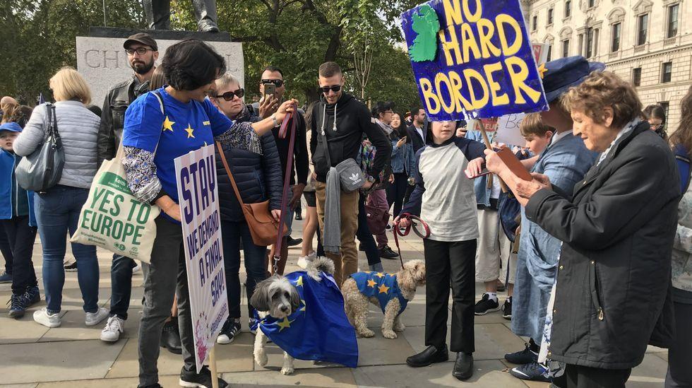 Almudena León lleva más de 20 años viviendo en Inglaterra.Son moitos os ingleses que reclaman un segundo referendo sobre a desconexión