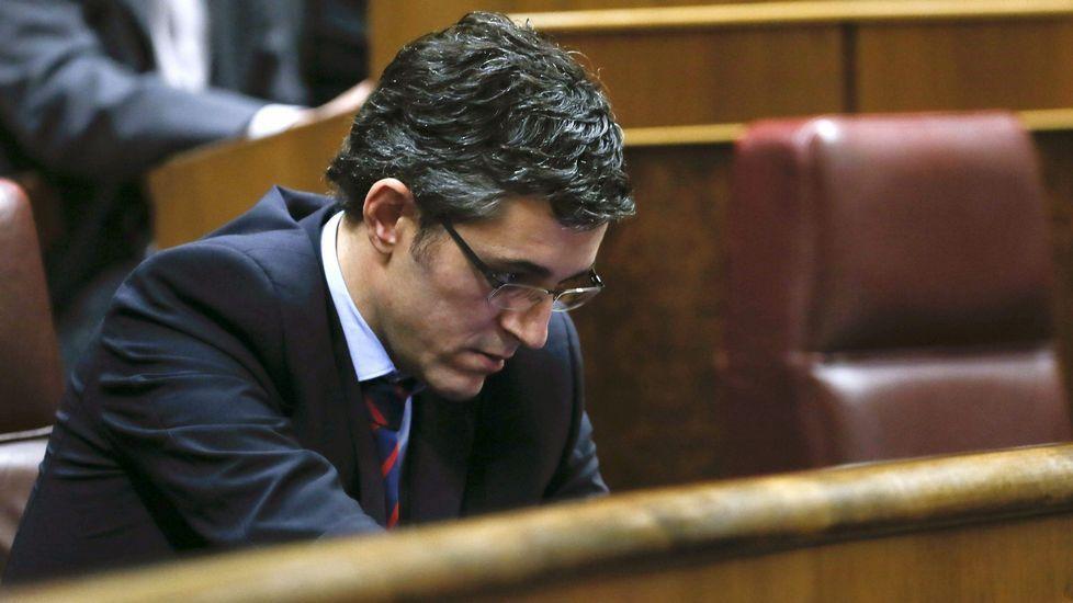 .Eduardo Madina, durante el pleno del Congreso.