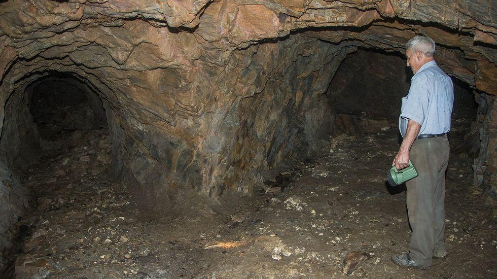 Galerías de las minas de Freixo, en Monforte