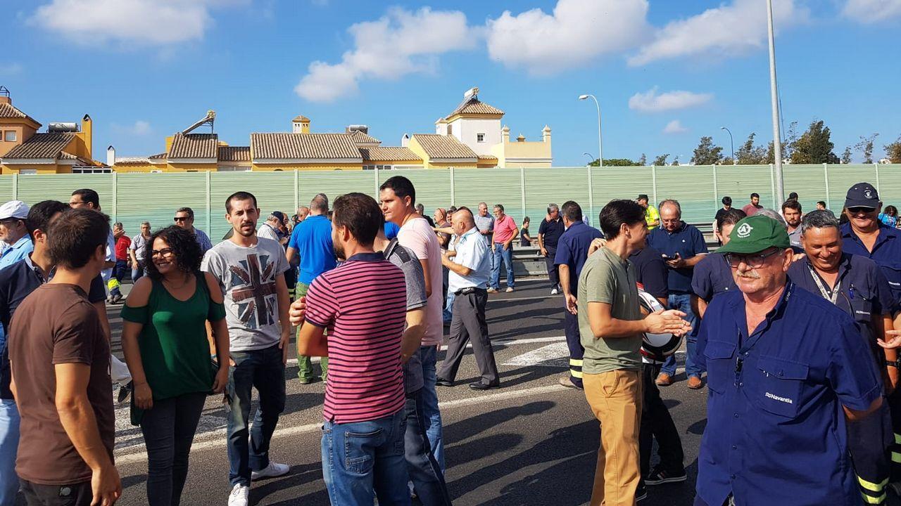 .Movilizaciones de trabajadores de Navantia en San Fernando por el temor a cancelar el contrato con Arabia Saudí