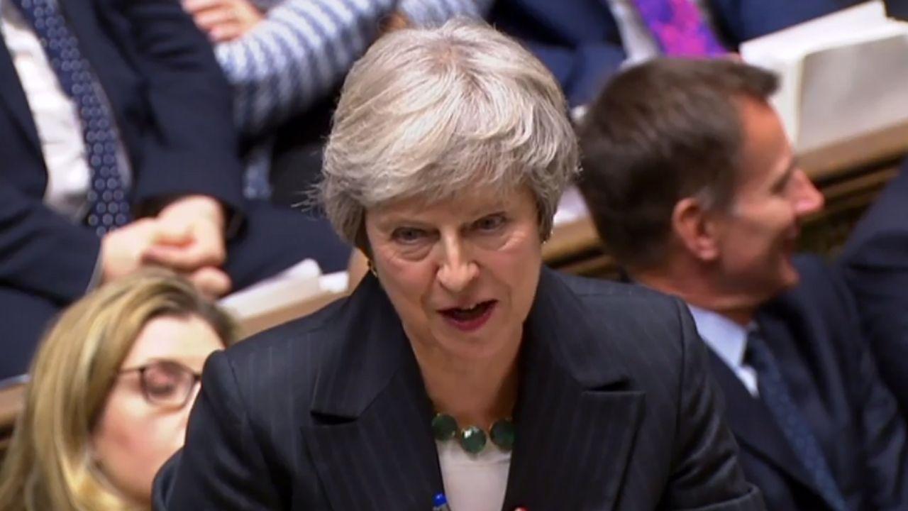 May defiende el acuerdo del «brexit» ante el Parlamento británico