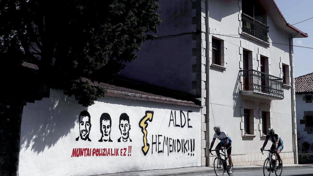 Pintadas de apoyo en Navarra a los jóvenes juzgados