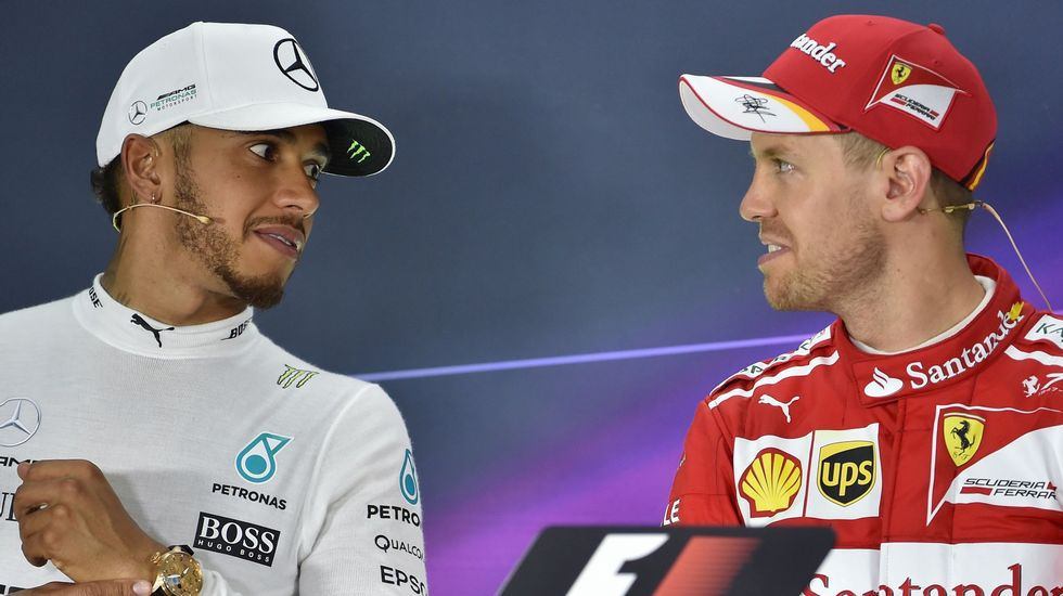 Lewis Hamilton, Kevin Magnussen y Sebastian Vettel en la rueda de prensa del Gran Premio de Austria.