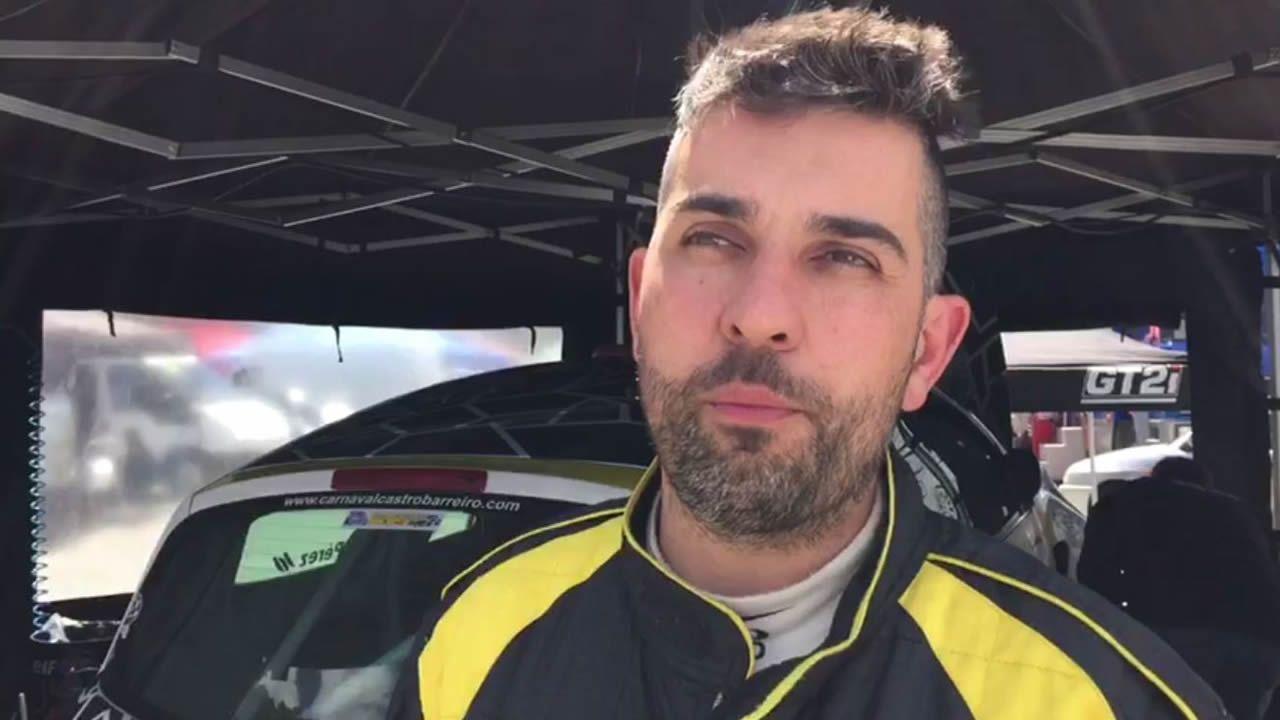 .Jorge Pérez segundo clasificado del Rali