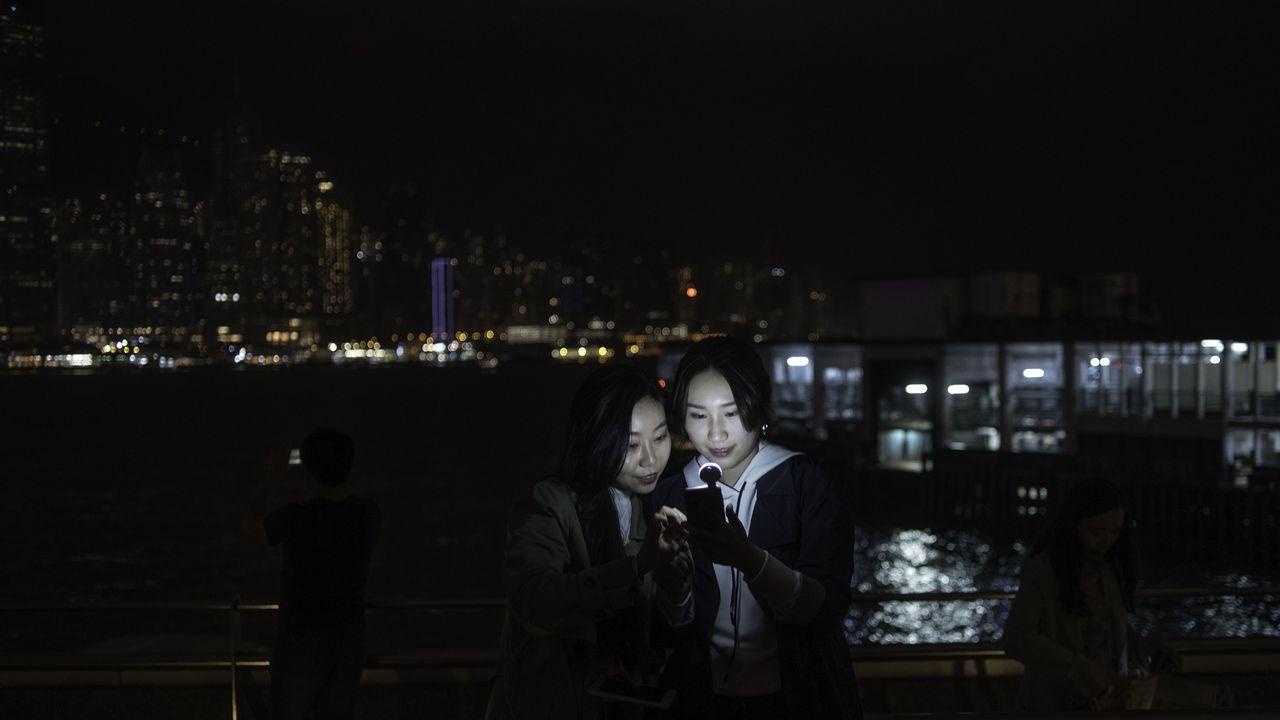 Apagado de luces en Hong Kong