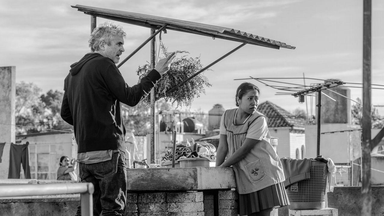 Cannes, en imágenes.El director Alfonso Cuarón, durante el rodaje de «Roma», que el año pasado no participó en Cannes por las exigencias que el festival imponía a Netflix