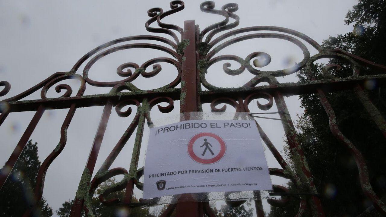 También en Vilagarcía los parques y jardines permanecen cerrados