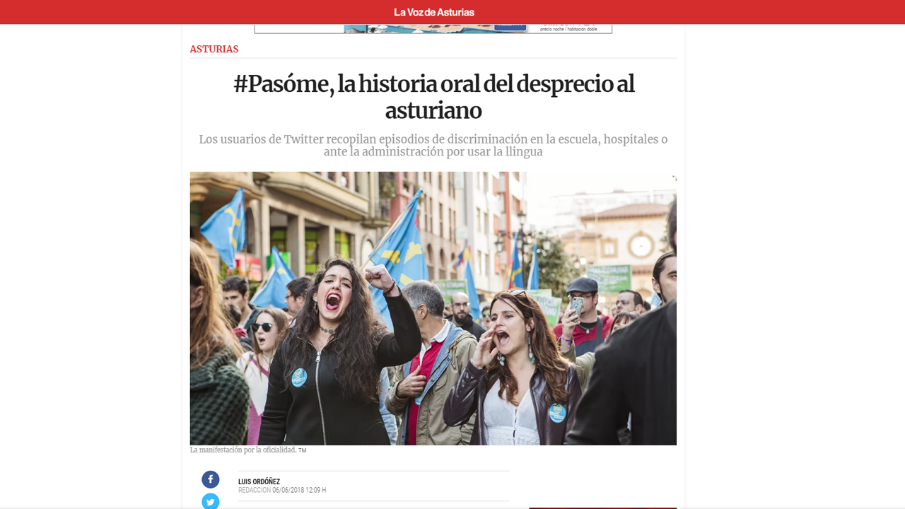La concejala de Educación de Oviedo, Mercedes González, con alumnos de Infantil de la escuela Dolores Medio.Artículo de La Voz de Asturias sobre la campaña