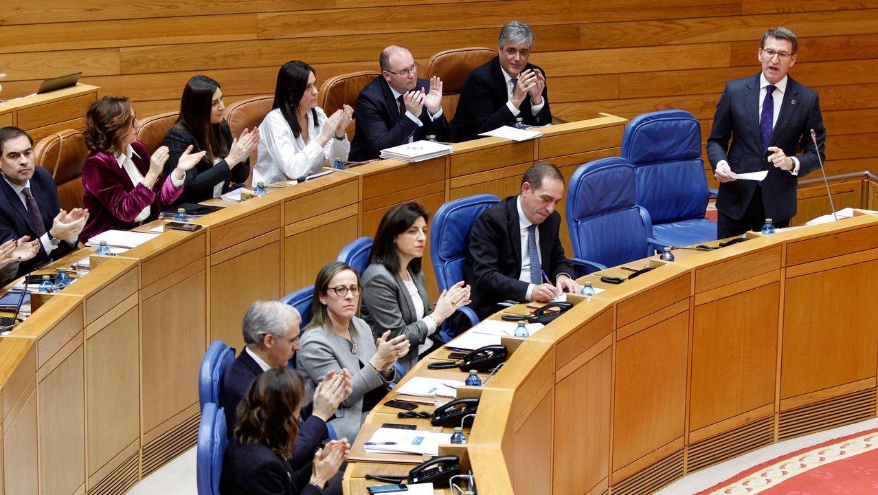 Caballero cuestiona la legitimidad del Parlamento para fiscalizar al Concello de Vigo.María José Caride