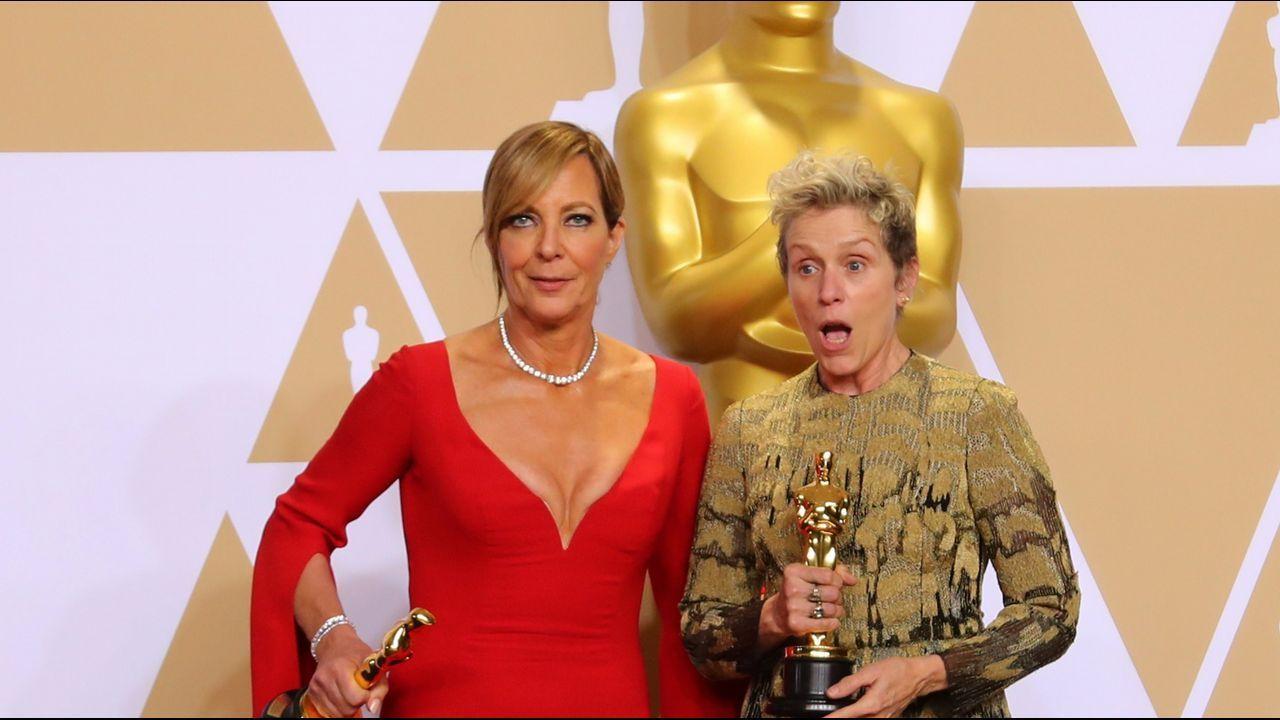 .Allison Janney  y Frances McDormand, ganadoras a los premios de mejor actriz de reparto y principal.