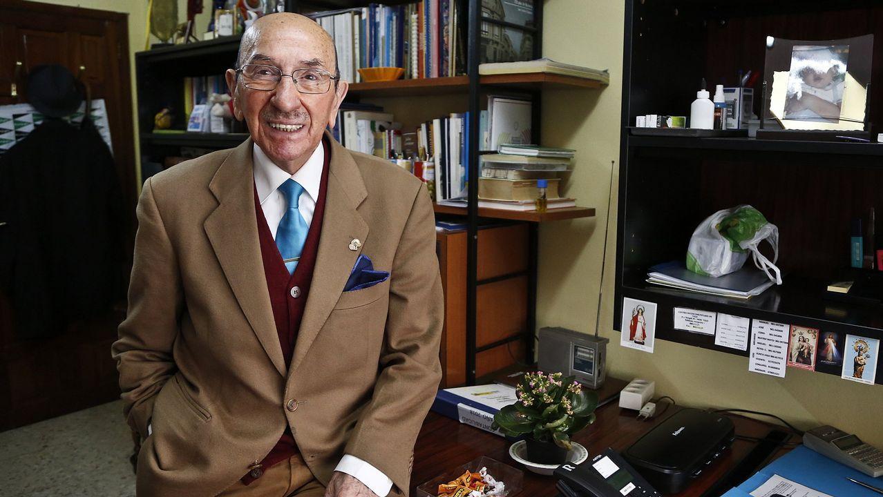 .José Piñeiro sigue trabajando a sus 92 años