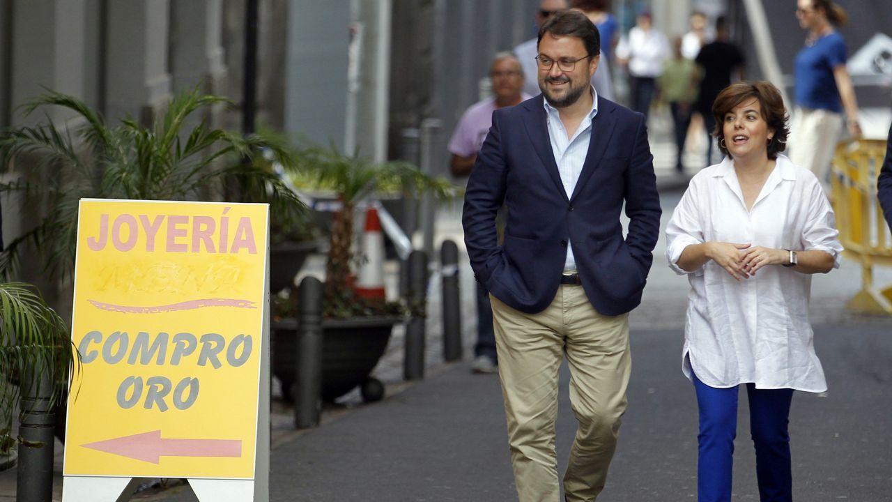 .Sáenz de Santamaría pasea en Tenerife con Antona, presidente regional del PP en las islas