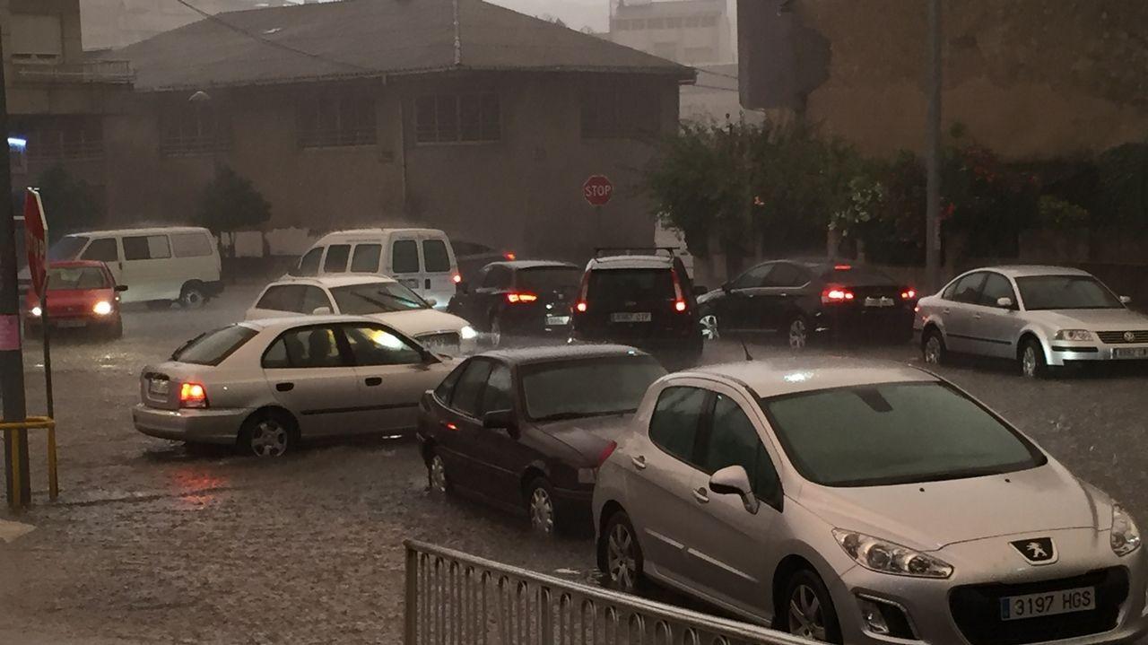 El granizo colapsó Sarria durante 25 minutos
