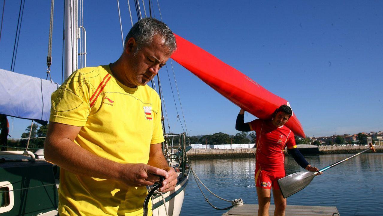 Morlán, el seleccionador que catapultó a Cal a la gloria.Suso Morlán, con David Cal en Pontevedra en el 2009