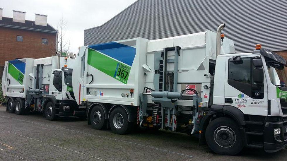 .Camiones de recogida de residuos de Emulsa