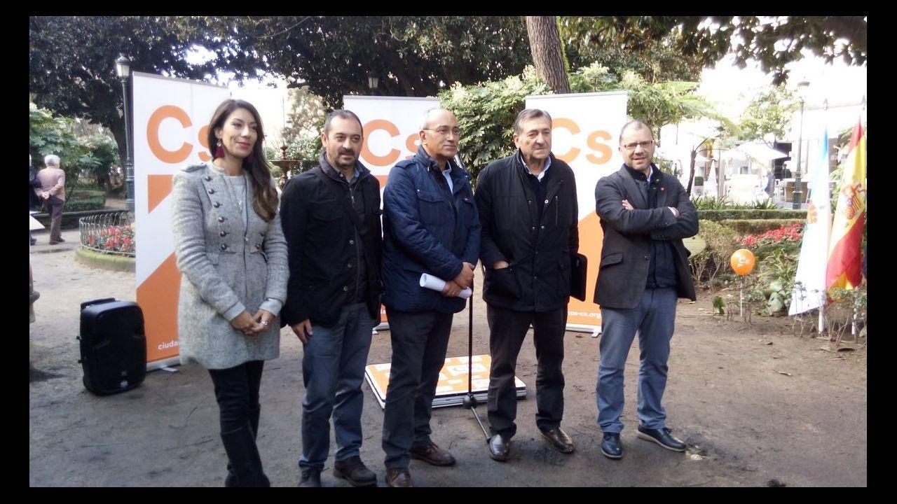 Gonzalo Caballero, Touriño y Pachi Vázquez, en el funeral de Miguel Cortizo, que tuvo lugar en Santiago el pasado julio