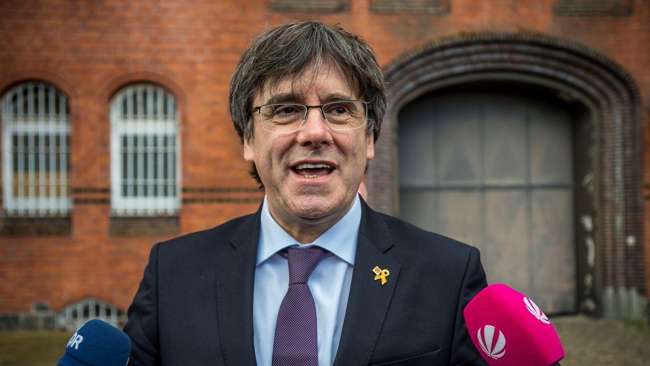 Los Mossos pidieron a Puigdemont que desconvocara el 1 de octubre.El presidente del Parlamento catalán, Roger Torrent, durante una comparecencia para comentar la impugnación del Gobierno a la investidura