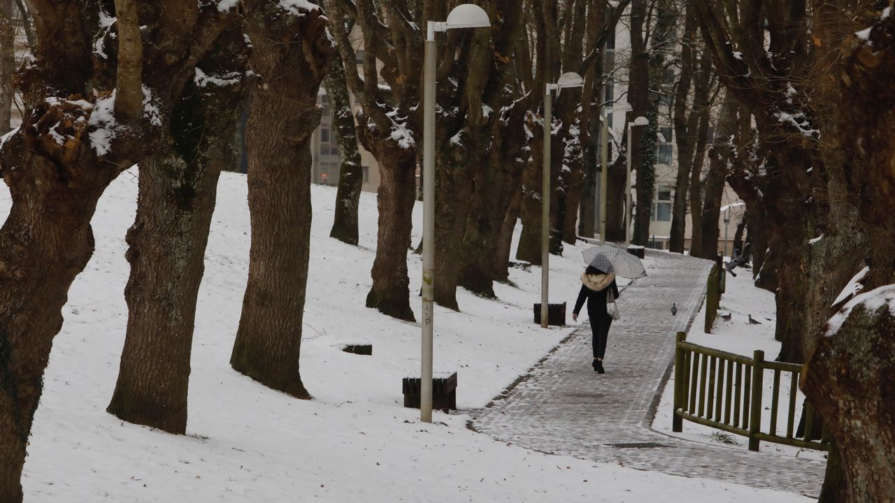 Lugo amanece nevado