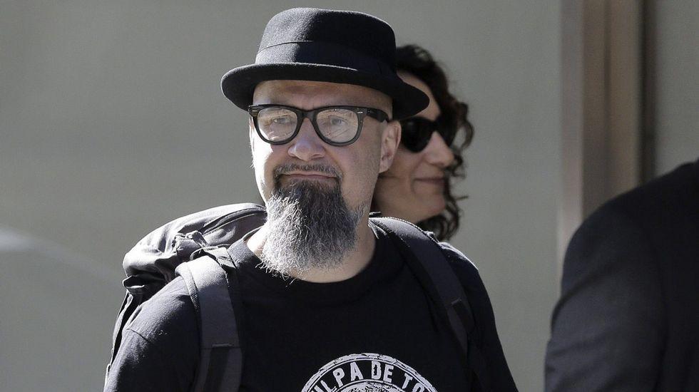 César Strawberry, vocalista de Def Con Dos, declara ante la Audiencia Nacional