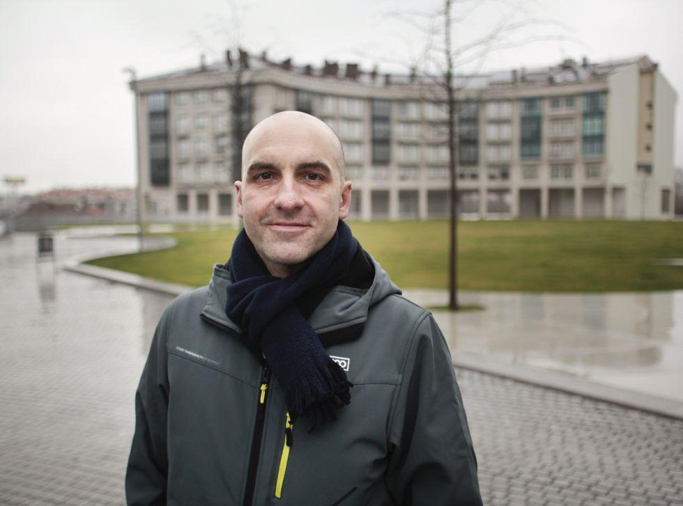 Nieve en Ourense y en Dozón.Armando Piñeiro é o impulsor desta iniciativa